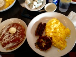 3 [scrambled] eggs,