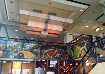 Chicago themed decor inside the restaurant.