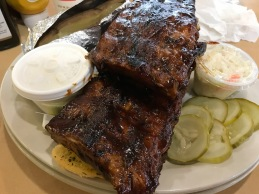 Full Slab of Ribs, Baked Potato, & Cole Slaw